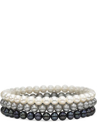 jcpenney Fine Jewelry Cultured Freshwater Pearl 3 Pc Stretch Bracelet