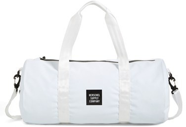 White And Black Canvas Duffle Bags Herschel Supply Co Sutton Studio Collection Water Resistant Tarpaulin Duffel Bag