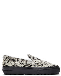 Vans Off White Brown Faux Pony Style 53 Lx Loafers