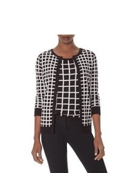 The limited 2tone grid cardigan medium 422892
