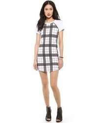 Stylestalker check print tee dress medium 60318