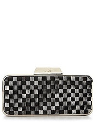 Belle rikah check bead frame clutch medium 84857