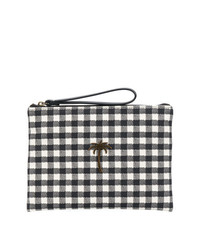 Tomas Maier Chequer Canvas Pouch