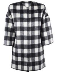 MSGM Buffalo Check Coat