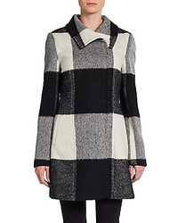 Buffalo check wool blend coat medium 130698