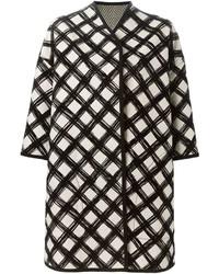 Grid print coat medium 446039
