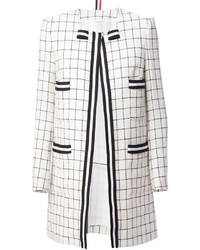 Thom browne checked coat medium 446034