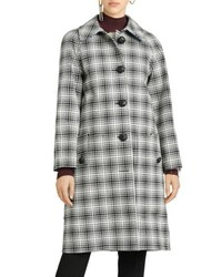 Walkden check wool coat medium 8684883