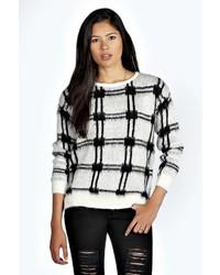 Boohoo shen check knit brushed jumper medium 176233