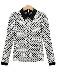 Chicnova peter pan collar puff sleeves knitwear medium 176235