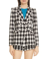 Veronica Beard Miller Gingham Dickey Jacket