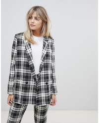 ASOS DESIGN Mono Check Suit Blazer