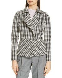Lewit Plaid Peplum Jacket