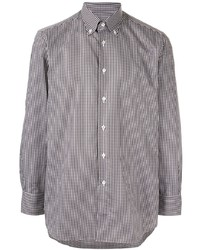 Brioni Check Button Down Shirt