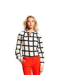 Tommy hilfiger windowpane check blouse medium 109862