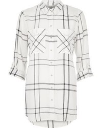 River Island White Checked Shirt