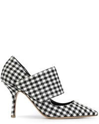Erika cavallini gingham check pumps medium 344123