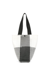 Truss Nyc Check Contrast Tote