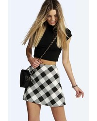 Boohoo Vicki Grid Check A Line Mini Skirt | Where to buy & how to wear