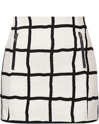 Topshop Petite Window Pane Pelmet Skirt