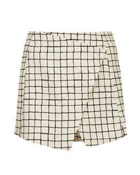 Topshop Tall Window Pane Check Skort