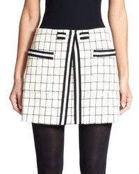 Thom Browne Tattersall Wool Mini Skirt