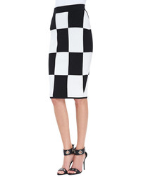 Derek Lam 10 Crosby Checkerboard Pencil Skirt