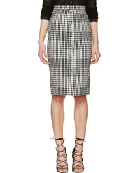 Altuzarra Black White Seersucker Gingham Balthazar Skirt