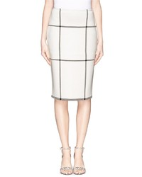 St. John Check Milano Knit Pencil Skirt