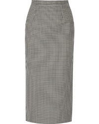 Checked wool and mohair blend pencil skirt medium 3649699