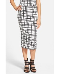 Leith Checker Midi Skirt