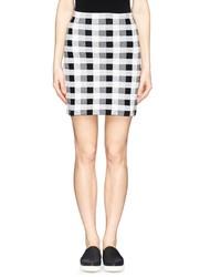 Theory Holeen G Check Print Skirt