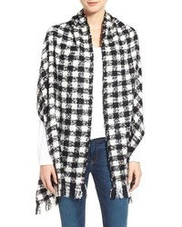 Renee's Accessories Oversized Check Fringe Scarf