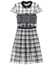 Checked organza shirtdress medium 329291