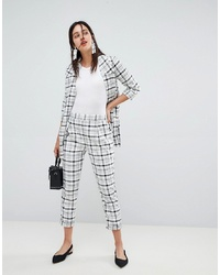 Stradivarius Co Ord Grid Check Trousers