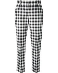 Dolce gabbana check trousers medium 337386