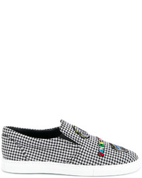 Mira Mikati Checked Patched Slip On Sneakers
