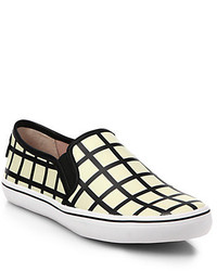 Kate Spade New York Leather Patterned Slip On Sneakers
