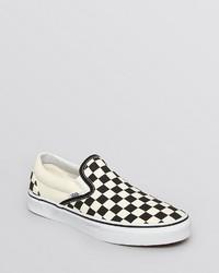 Unisex unisex slip on flat sneakers canvas check medium 235623