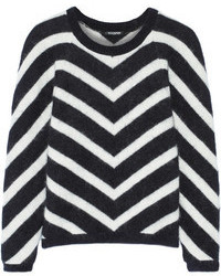 Balmain Chevron Patterned Angora Blend Sweater