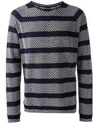 Giorgio armani jacquard striped sweater medium 32367