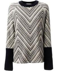Tory Burch Vivienne Chevron Pattern Sweater
