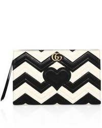 Gg marmont matelasse leather clutch medium 3669080