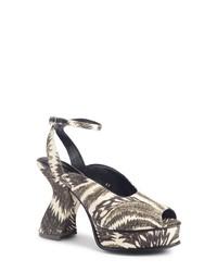 Dries Van Noten Wave Heel Platform Sandal