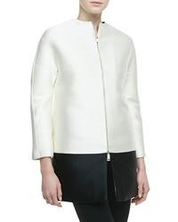 Valentino Bicolor Scuba Zip Coat