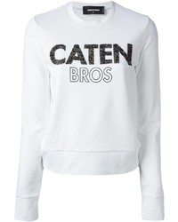 White and black crew neck sweater original 3142563