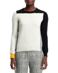 Stella McCartney Cashmere Colorblock Sweater Blackwhite
