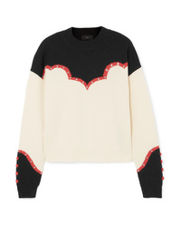Alanui Western Studded Embroidered Cashmere Sweater