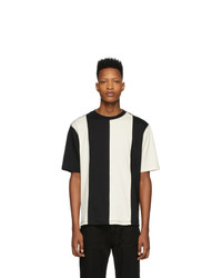 AMI Alexandre Mattiussi Black And Off White Bi Colour T Shirt