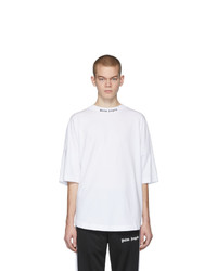 Palm Angels White Classic Logo Over T Shirt